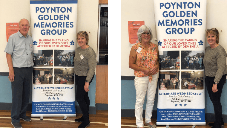 Diane with Gerald and Judy from Poynton Golden Memories