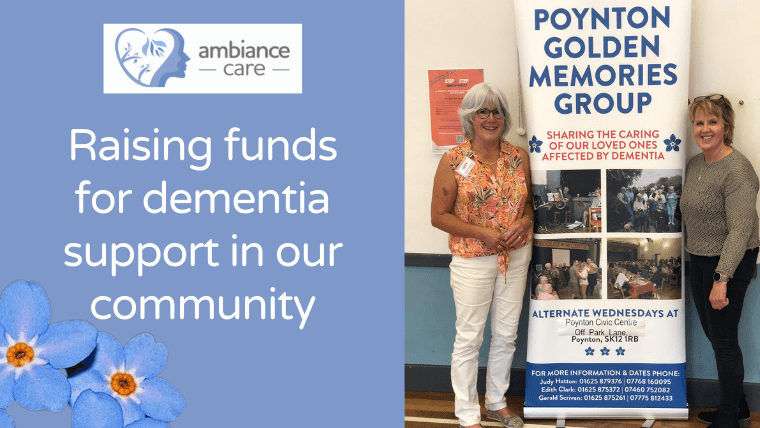 Diane with Judy from Poynton Golden Memories dementia support group